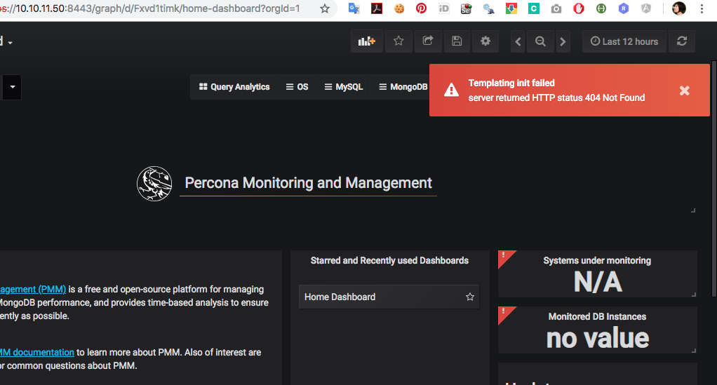 PMM-2997] Error on all dashboards - Percona JIRA